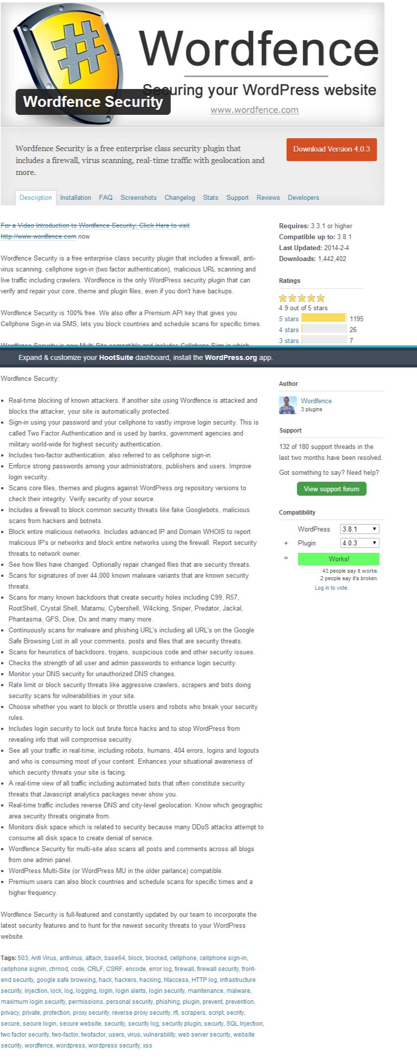 Wordfence for WordPress Security
